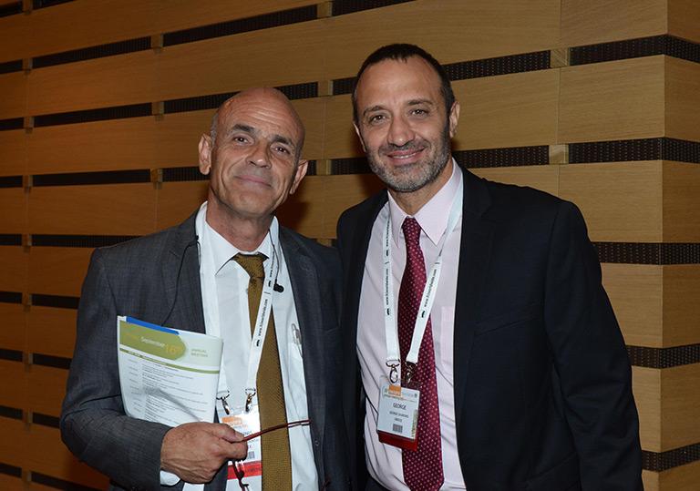 Οι συνδιοργανωτές του Συνεδρίου, Δρ. Ιωάννης Ντούντας και Δρ. Γιώργος Χαρώνης.